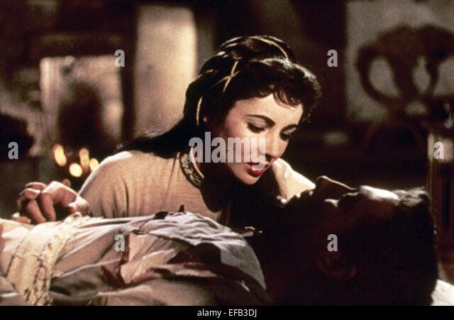 ELIZABETH TAYLOR & ROBERT TAYLOR IVANHOE (1952) - Stock-Bilder