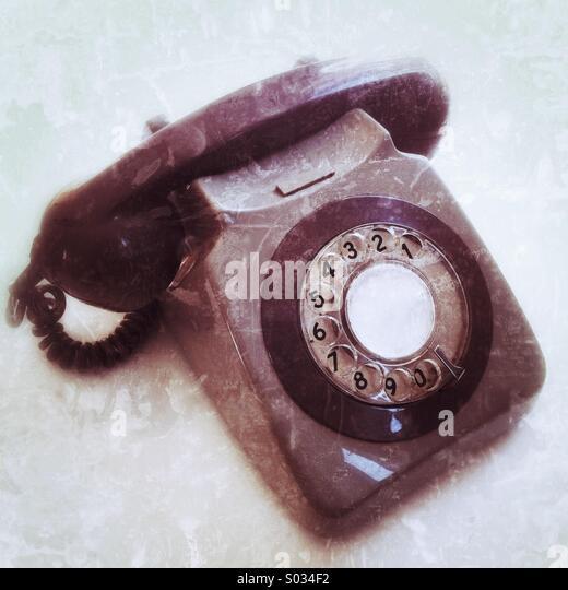 Traditional telephone - Stock Image