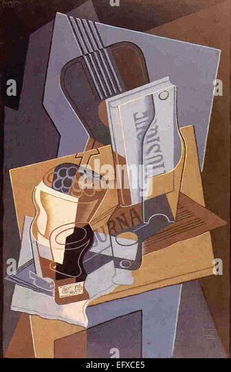 Juan Gris  The Book of Music - Stock-Bilder