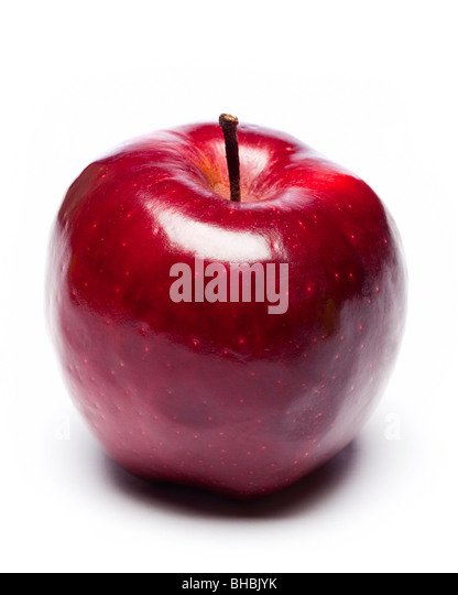 Red Apple cut out - Stock Image