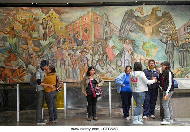 Mexico City Mexico DF D.F. Distrito Federal Metro Universidad University Station Line 3 subway STC mass transit - Stock Image