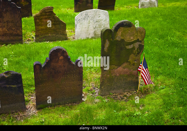 Cemetery at Saint Paul's Church - Stock Image