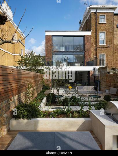 View from rear. Notting Hill House, London, United Kingdom. Architect: Michaelis Boyd Associates Ltd, 2017. - Stock-Bilder