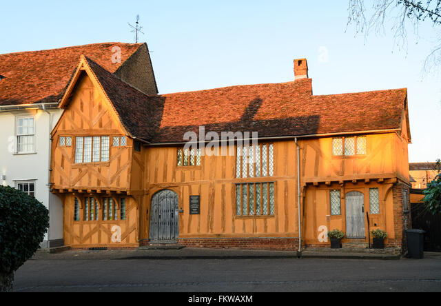 The 14th Century Little Hall at Lavenham, Suffolk, England, United Kingdom. - Stock Image