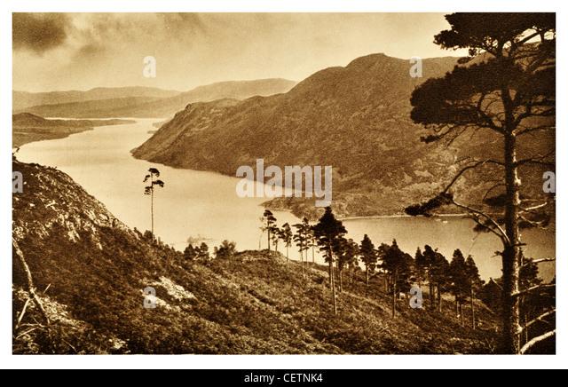 The Three reaches of Ullswater - Stock Image