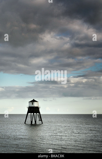 Dovercourt victorian lighthouse, Harwich, Sussex, England UK - Stock-Bilder