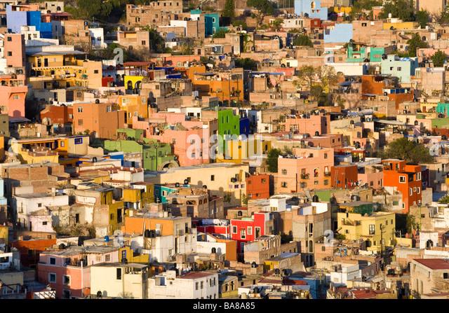 View over Guanajuato Mexico - Stock Image