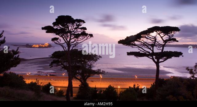 Channel Islands Jersey Elizabeth Castle St Aubins Bay St Helier - Stock-Bilder