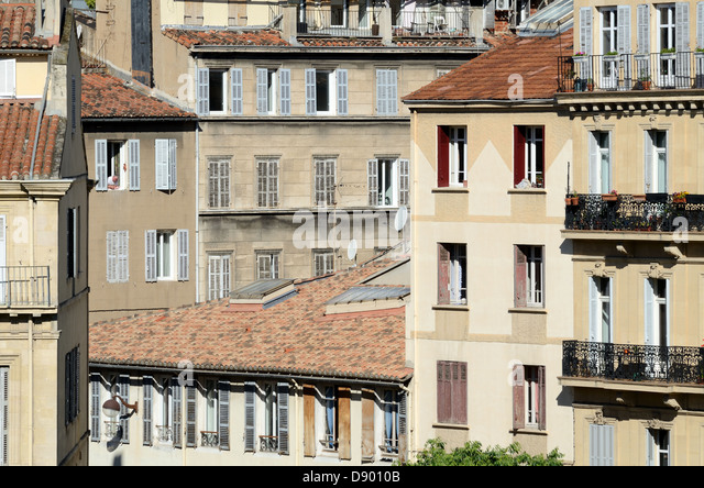 Period Apartments or Architecture Longchamp Marseille France - Stock Image