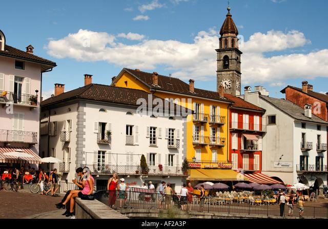 Switzerland Ticino Ascona Promenade - Stock Image