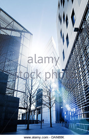 office buildings sunlight - Stock-Bilder