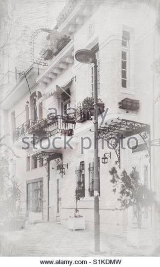 neoclassical mansion in Thissio, Athens - Stock Image