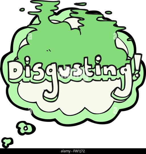 disgusting freehand drawn thought bubble cartoon - Stock-Bilder