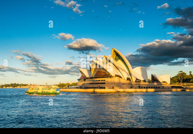 Sydney Opera House at sunset, UNESCO World Heritage Site, Sydney, New South Wales, Australia, Pacific - Stock-Bilder