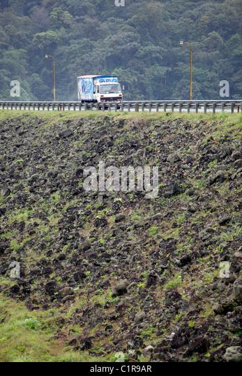 The earthen Arenal Dam, Costa Rica - Stock Image