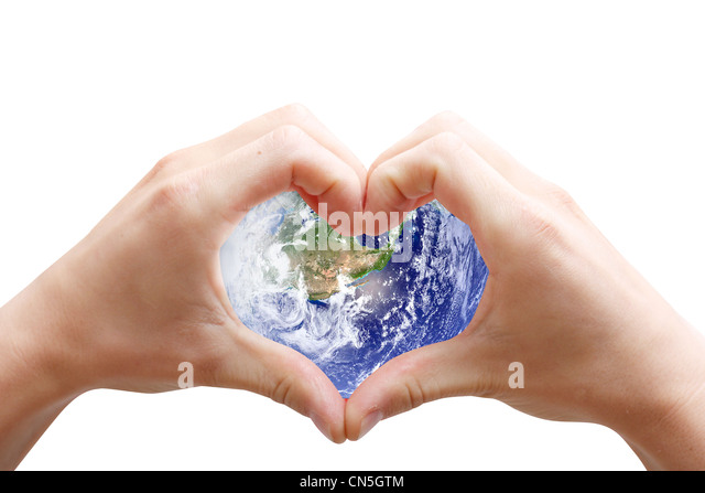 Love the planet - Stock Image