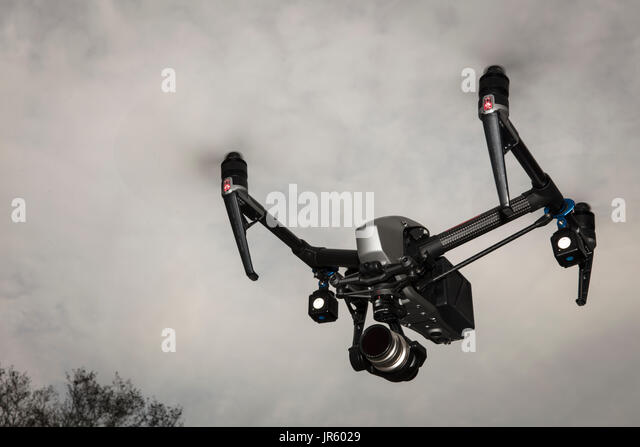 Inspire flying - Stock Image