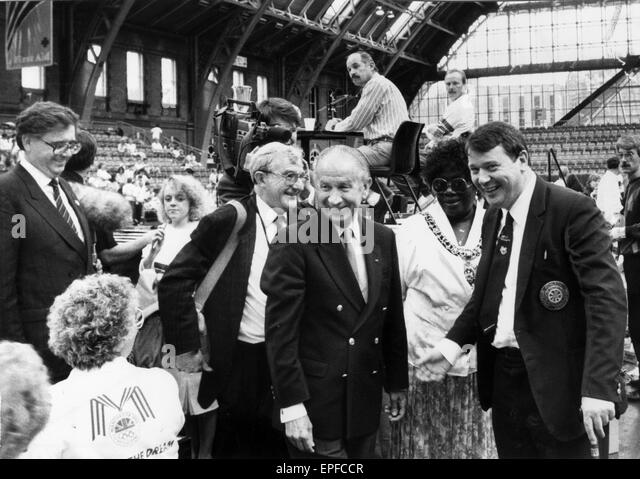 Manchester Olympic Bid for the 1996 Games, July 1989. - Stock Image