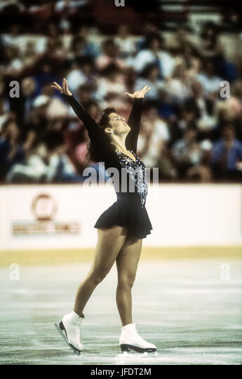 Nancy Kerrigan (USA) competing at the 1989 US Olympic Festival - Stock Image