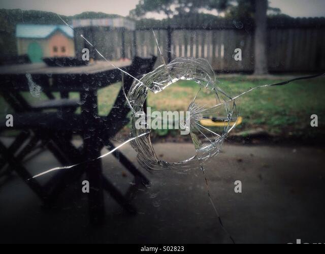 Broken window. - Stock Image