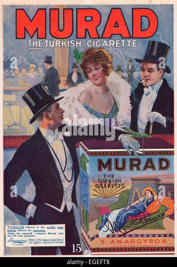 Print advertisement for Murad - The Turkish Cigarette, circa 1916 - Stock Image