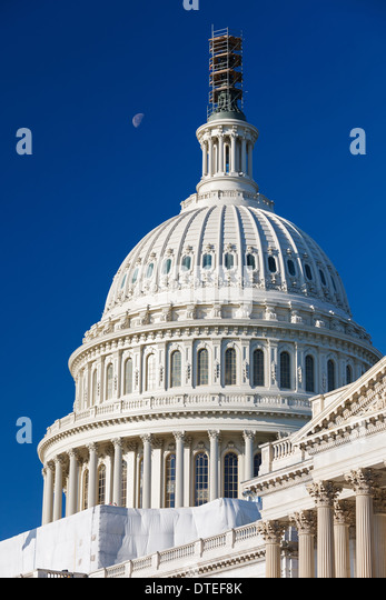 Dome of the US Capitol - Stock Image