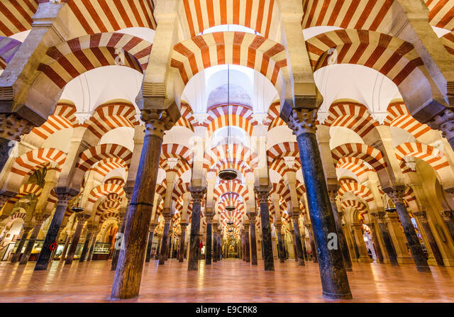 CORDOBA, SPAIN - CIRCA 2014: Mosque-Cathedral of Cordoba. The site underwent conversion from a church to a mosque - Stock-Bilder