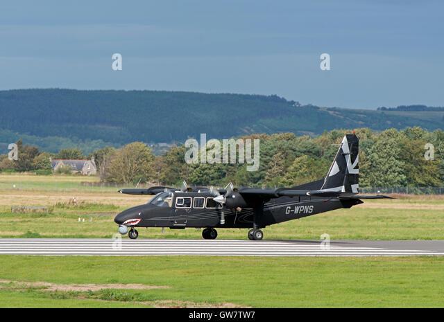 Britten-Norman BN-2T-4S Defender 4000  SCO 11,247. - Stock Image