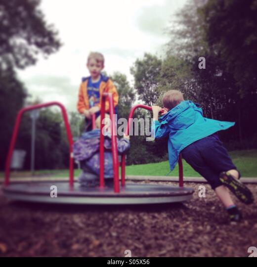 Fun at park - Stock Image