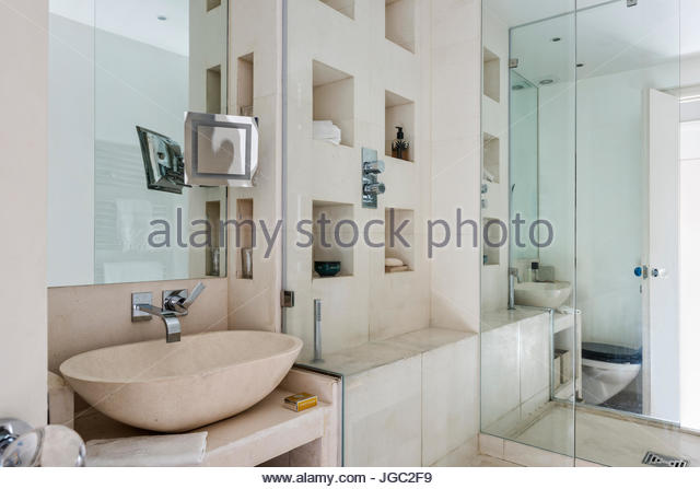 Recessed glass stock photos recessed glass stock images for Shower cubicle shelves