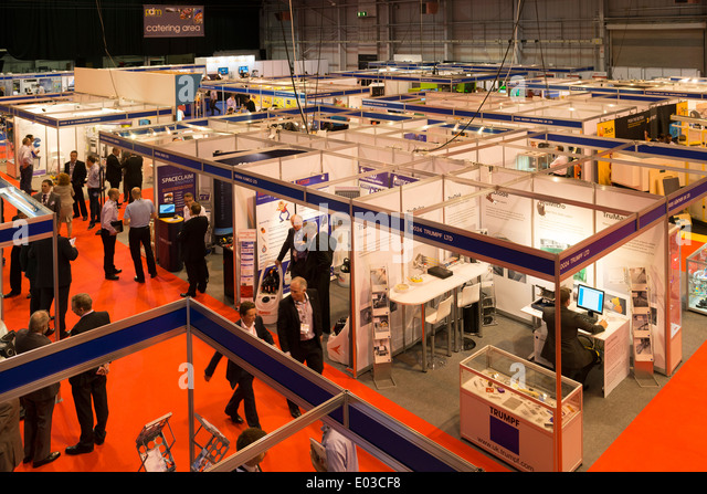 The International Centre, exhibition in Telford, Shropshire. - Stock Image