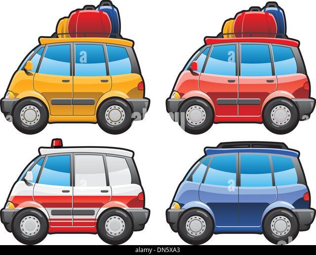 minivan, ambulance car - Stock Image
