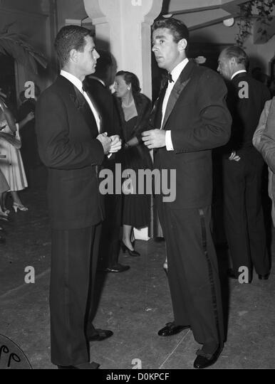 Peter Lawford and Reginald Boardman at the Theatre in Palm Beach, FL, ca 1950 (Photo by Bert Morgan/Bert Morgan - Stock Image