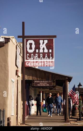 OK Corral Gunfight Site, Tombstone, Arizona, USA - Stock Image