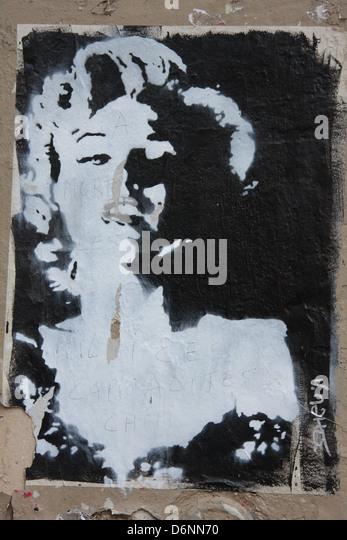 Street Art in Paris - Stock Image