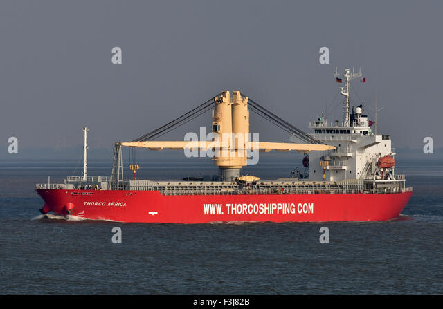 Geared general cargo vessel Thorco Africa - Stock Image