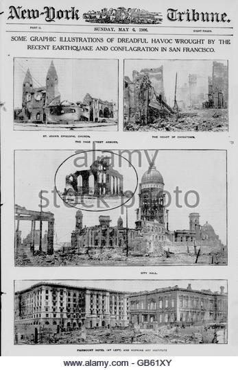 Some graphic illustrations of dreadful havoc wrought by the recent earthquake and conflagration in San Francisco - Stock-Bilder