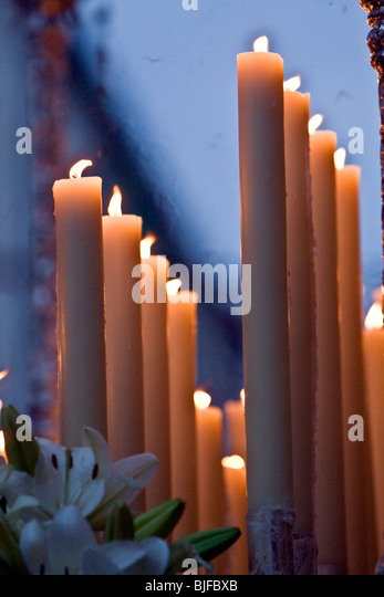 Candles of holy week - Stock Image