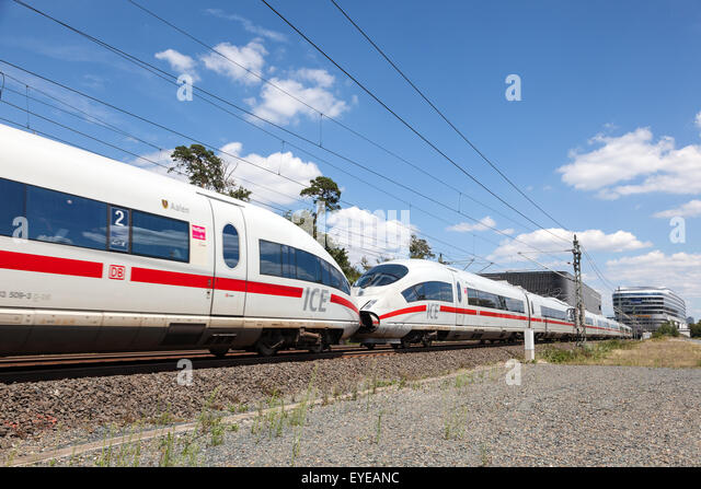 German high speed Intercity Express train - Stock-Bilder