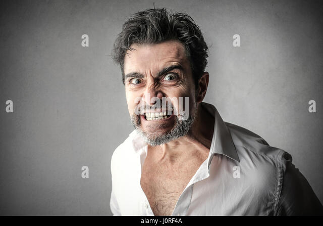 Man being angry - Stock Image