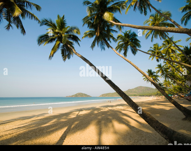 Palolem beach in Goa in South India - Stock-Bilder