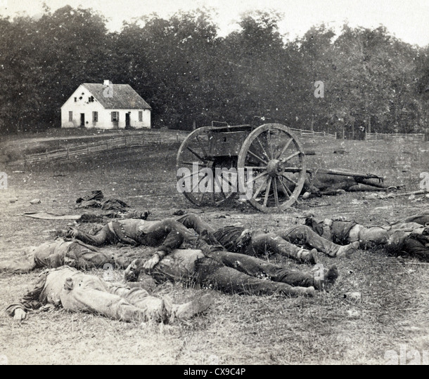 Battle of Antietam also known as the Battle of Sharpsburg, American Civil War - Stock Image