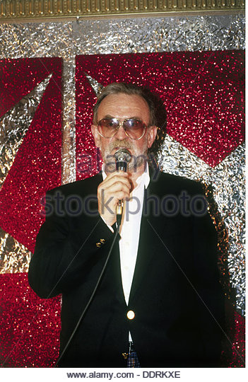 Rau Fritz 9.3.1930 - 19.8.2013 German concert promoter during an event early 1980s organizer organiser organizers - Stock Image