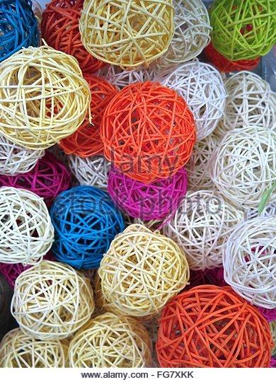 Full Frame Shot Of Multi Colored Balls - Stock-Bilder