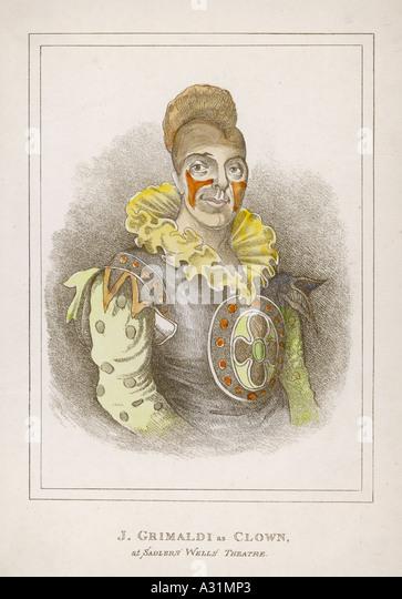 Joseph Grimaldi Clown - Stock Image