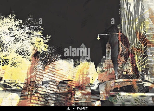 Modern abstract graphic design digital art  creative concept - Stock Image