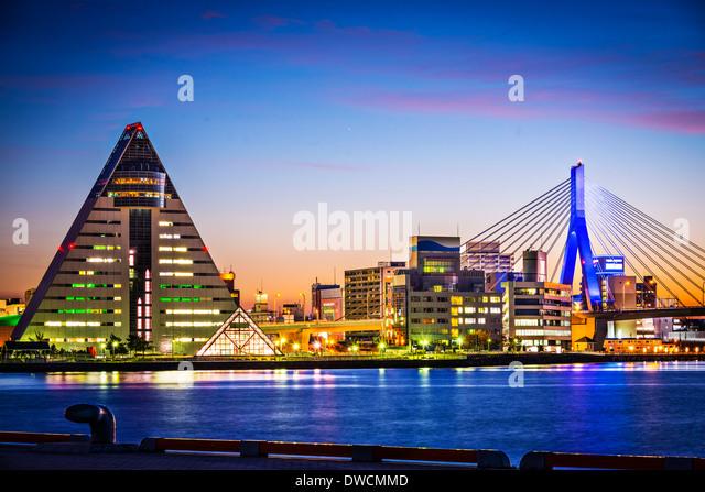 Aomori City, Japan in the northern Tohoku Region. - Stock Image