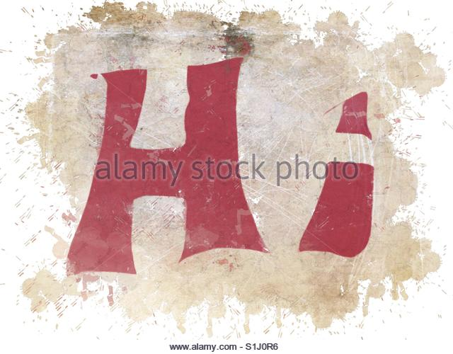 The word Hi graffitied - Stock Image
