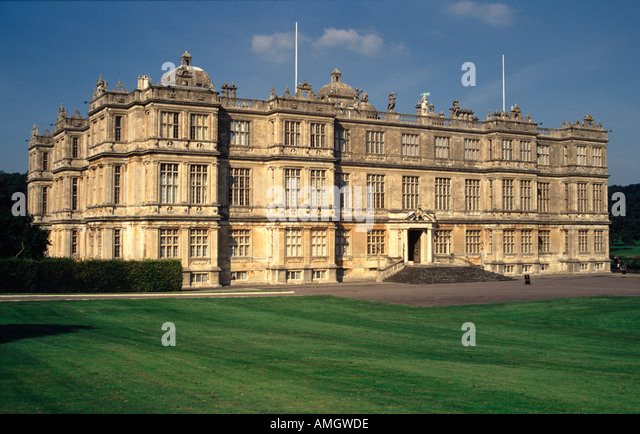 Longleat House Wiltshire England UK Home of the Marquis of Bath and the Longleat Wildlife Park - Stock Image