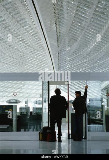 Modern airport interior - Stock Image